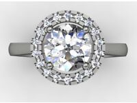Engagement ring 1 carat GIA certified valuation £15,650 bought for £9,100 from Hatton Garden in 2015