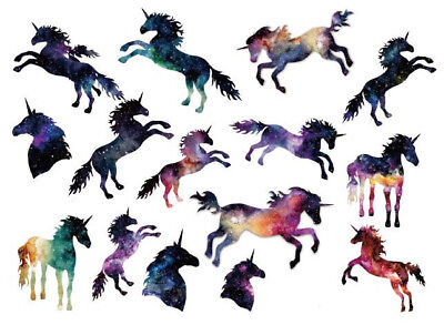 Waterproof Temporary Fake Tattoo Stickers Watercolor Unicorn Horse Animals  (Unicorn Tattoo)