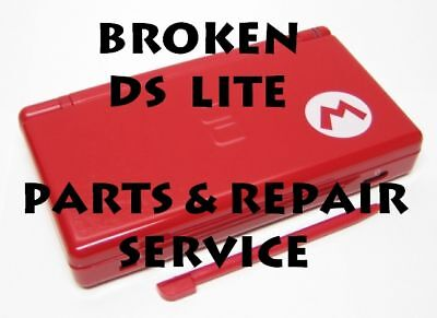Broken Nintendo DS Lite System Parts and Repair Service