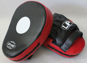 NEW FOCUS GLOVES RED BLACK SPEED PAD MITTS Used For Boxing Muay Thai MMA Punch