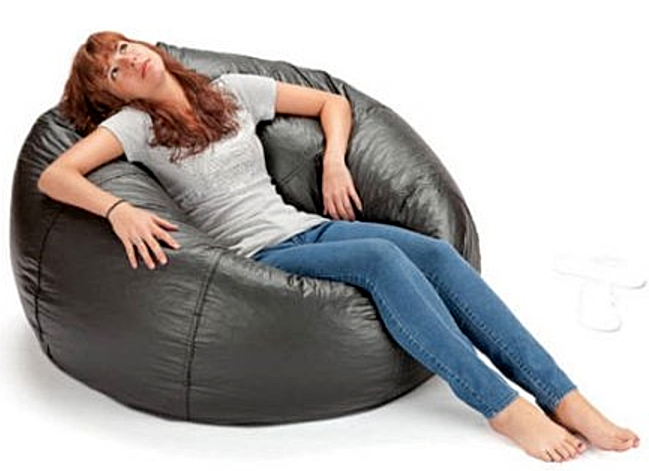giant bean bags 132 round extra large big shiny giant bean bag chair for kid teen adult