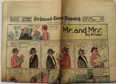 Richmond Times Dispatch Comics 2 12 28  Orphan Annie  Gasoline Alley Katzen   Ki