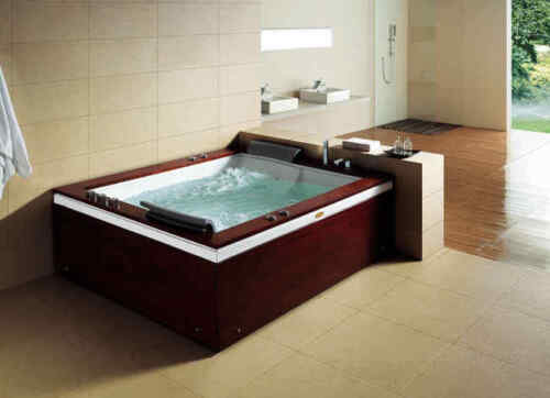 2-Person Luxury Free Standing Jetted Tub-Real Wood Skirt-10 Year Warranty