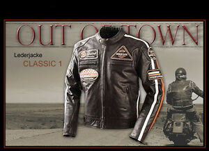 blouson en cuir homme pour moto classic vintage retro veste motard en cuir l ebay. Black Bedroom Furniture Sets. Home Design Ideas