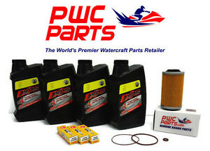SeaDoo BRP Oil Change Kit RXP-X RXT-X GTX GTI 4-TEC NGK Spark Plug DCPR8E Filter