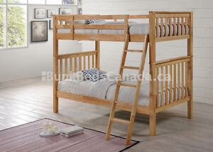 Bunk Bed - Hardwood- Twin/Twin - Natural - By Bunk Beds Canada