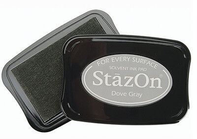 - STAZON Solvent Ink Pad  DOVE GRAY  Tsukineko Archival