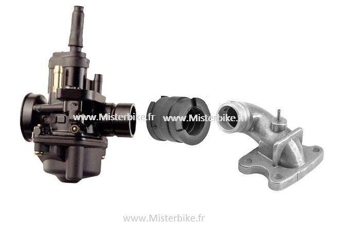 Kit Carburateur 17,5 + pipe  adaptable pour peugeot Buxy trekker