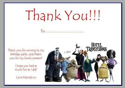 personalised photo paper card thank you notes HOTEL TRANSYLVANIA HALLOWEEN #1