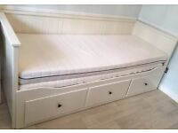 Ikea hemnes day bed with mattresses (missing drawer!) please read