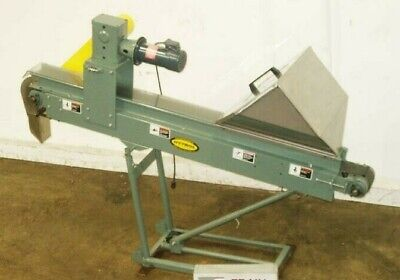 Hytrol Pc Inclined Cleated Belt Conveyor 4w X 84l With Ss Feed Hopper