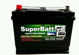 Brand new SuperBatt12V 100AH Leisure / Marine Battery SuperBatt CLM100 for Boat-home