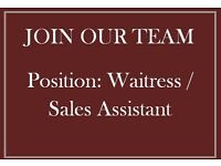 Waitress / Sales Assistant