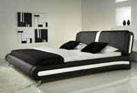 EURO-STYLE LEATHER Queen and King Bed Frames(RETAIL OVER $2000)
