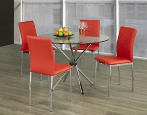 GLASS ROUND DINING TABLE (T2239)