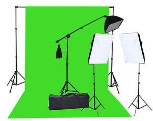 2000 Watt Chromakey Green Screen Video Lighting Kit 10'x20ft Green light kit