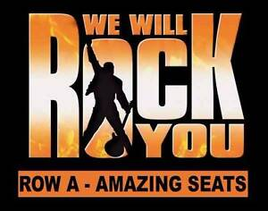 FRONT ROW WE WILL ROCK YOU - ROW A DRESS CIRCLE! Melbourne CBD Melbourne City Preview