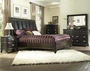 6pcs. Queen Black Bedroom Set (ME2002)
