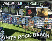 ARTographer RIc Wallace will be @White Rock Beach with his tent
