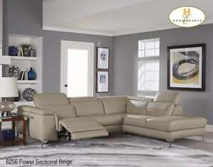 Beige Sectional with Power Recliner- Brampton Furniture Sale (BD-2425)