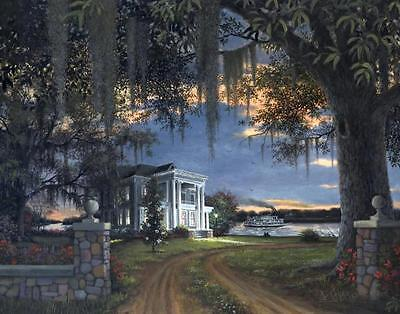 Evening Passage by Ron Carter Southern Plantation River Boat Open Ed 16x20 Canva