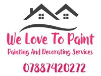 Painting and decorator and wallpapering
