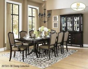 Dining Table with 2 Arm chairs and 4 Side chairs on sale (MA801)