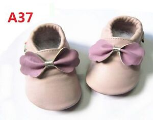 New Soft Sole Leather Baby Infant Boys Girls Shoes Prewalkers Size 1,2,3,4