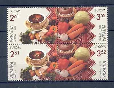 Ukraine -  2005 MNH ** EUROPA Gastronomie Block of 4