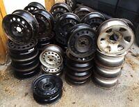 Ensemble de 4 roues d'acier à vendre