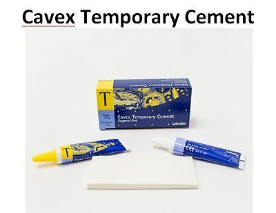 Dental Cavex Eugenol Free Temporary Cement Luting Cement Base And Catalyst