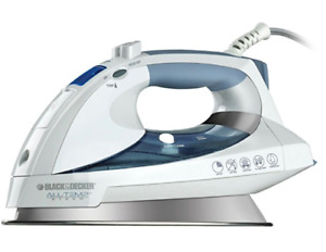 Black & Decker D6000 All-Temp Steam Iron with Stainless-Steel So