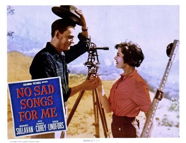 No Sad Songs For Me Lobby Card Wendell Corey Viveca Lindfors OLD MOVIE PHOTO