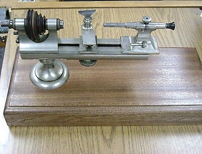 American Watch Tool Co Boley Type Watchmakers Jewelers Lathe - Pristine