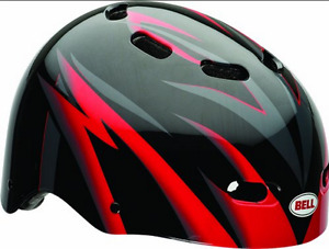 Bell Kid's Maniac Helmet Black Red Magnum