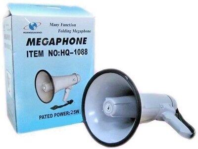 Megáfono Portátil Profesional Aux 600M 25W Grabadora de Voz HQ-1088