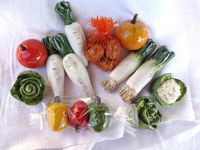 14x Gemüse für Kaufladen,  Küche, Puppenstube - Zubehör -