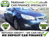 Vauxhall Astra 1.6 exclusive Good / Bad Credit Car Finance (blue) 0000