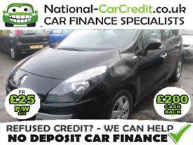 Renault Scenic 1.5 dCi Dynamique 5dr (Tom Tom) Good / Bad Credit Car Finance (black) 2010