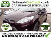Ford Fiesta 1.6 TDCi Zetec 5dr Good / Bad Credit Car Finance (red) 2010