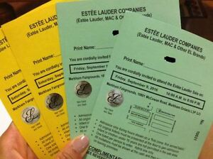 MAC / Estee Lauder / Clinique Warehouse Sale - VIP Tickets