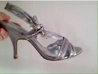 NEXT SILVER PARTY SHOES SIZE 6