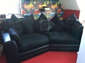 Black coner sofa