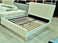 BEST SELLING BRAND - NEW LUCY BED FRAME PLUSH VELVET FABRIC HIGH QUALITY AND SAME DAY DELIVERY