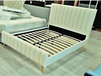 💛💛Cheapest Offer💛💛NEW DOUBLE PLUSH VELVET FABRIC HIGH QUALITY DOUBLE BED FRAME