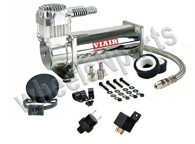 Single Viair 444C Air Compressor Ride Kit Train Horn 200psi Switch & Relay 516