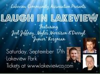 Comedy in the Park Sat Sept 17
