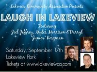 Comedy in the Park - Sat Sept 17