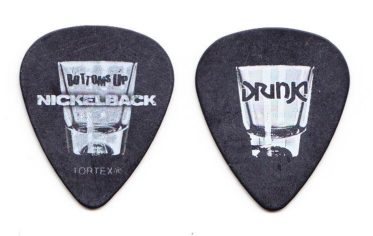 Nickelback Chad Kroeger Bottoms Up - Drunk Guitar Pick - 2012 Tour
