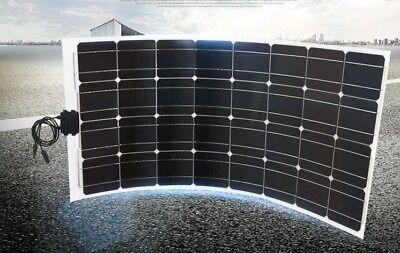 Flexibel Solarmodul 50W Solarpanel 12V ideal für Caravan Boot Yacht